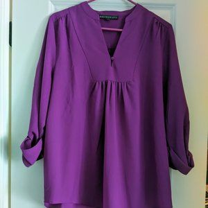 Purple Split Neck Blouse from Stitch Fix